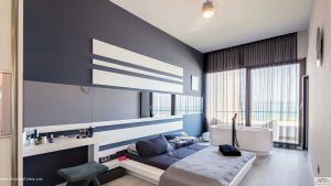 Apartment inside a Coastal Complex in Istanbul Bedroom Jacuzzi