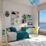 Apartment inside a Coastal Complex in Istanbul Boy's Room