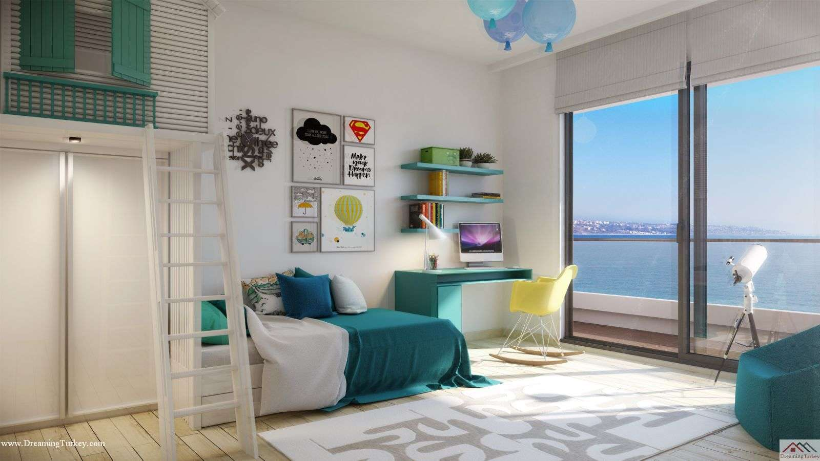 3-Bedroom Apartment inside a Coastal Complex in Istanbul