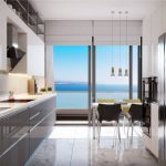 Apartment inside a Coastal Complex in Istanbul Kitchen
