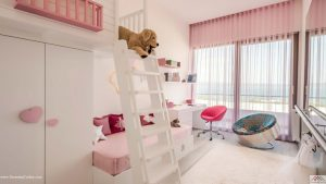 Apartment inside a Coastal Complex in Istanbul Girl's Room