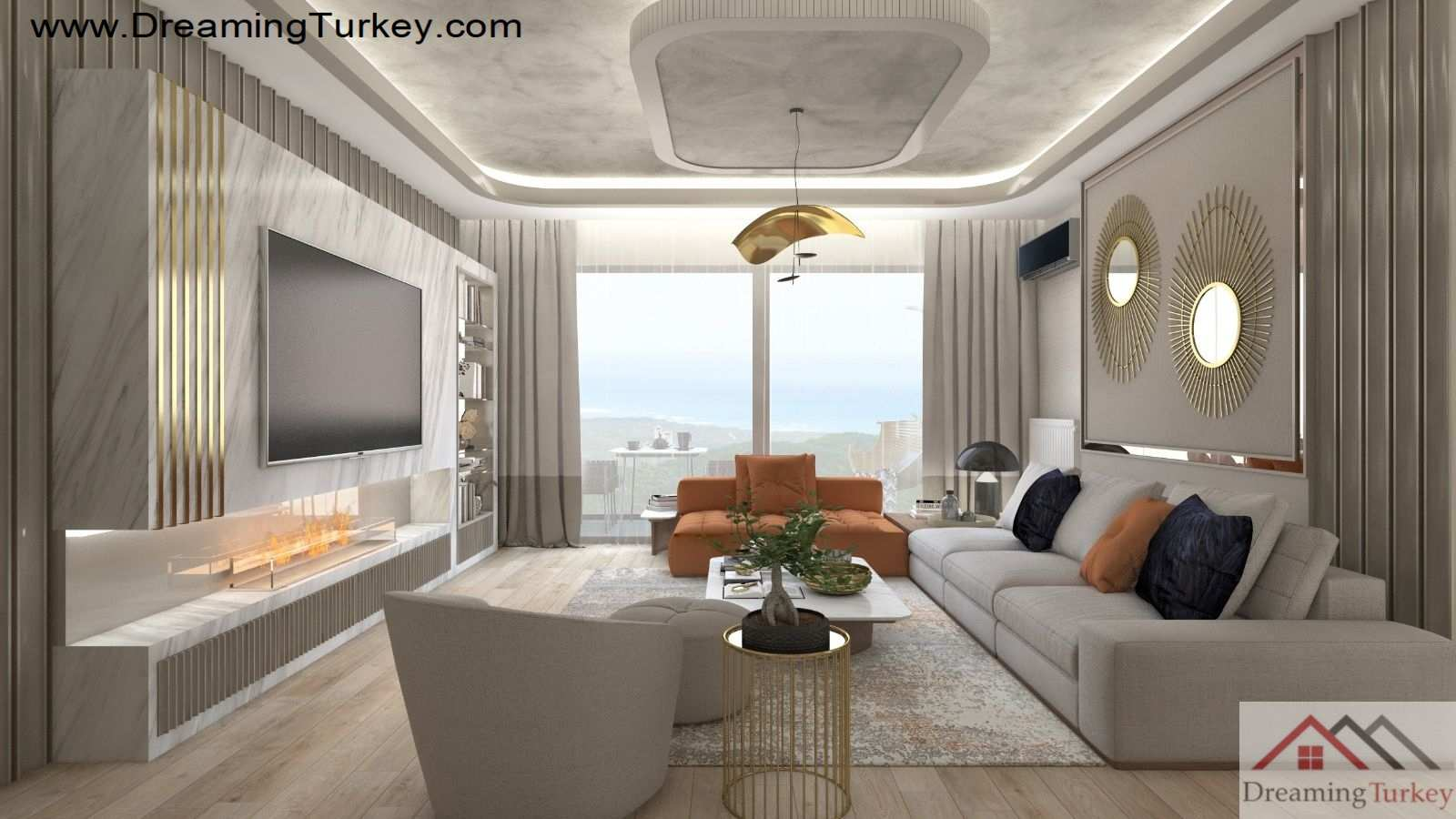 4-Bedroom Duplex with 2 Living Rooms Near the Sea in Istanbul