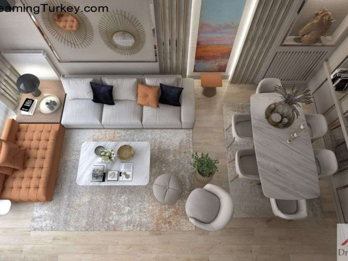 Apartment Near the Sea in Istanbul Living Room