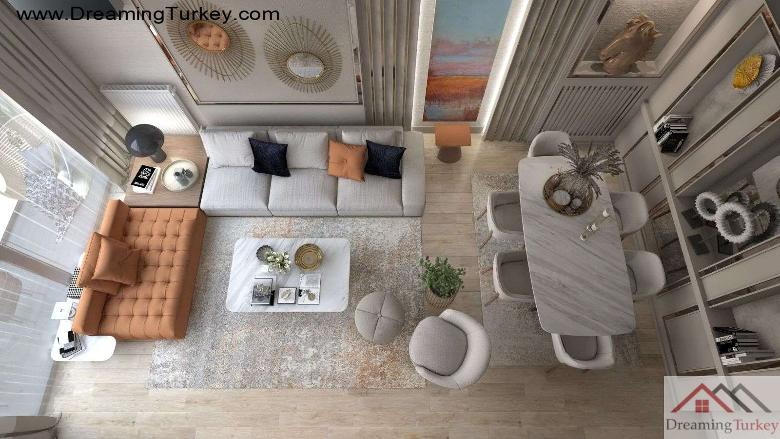 6-Bedroom Duplex with 2 Living Rooms Near the Sea in Istanbul