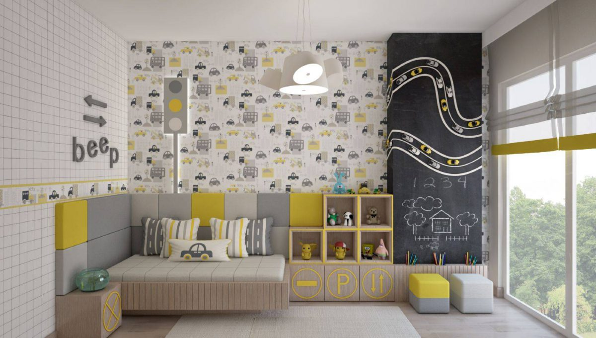Apartment with a Sea View in Istanbul Boy's Room
