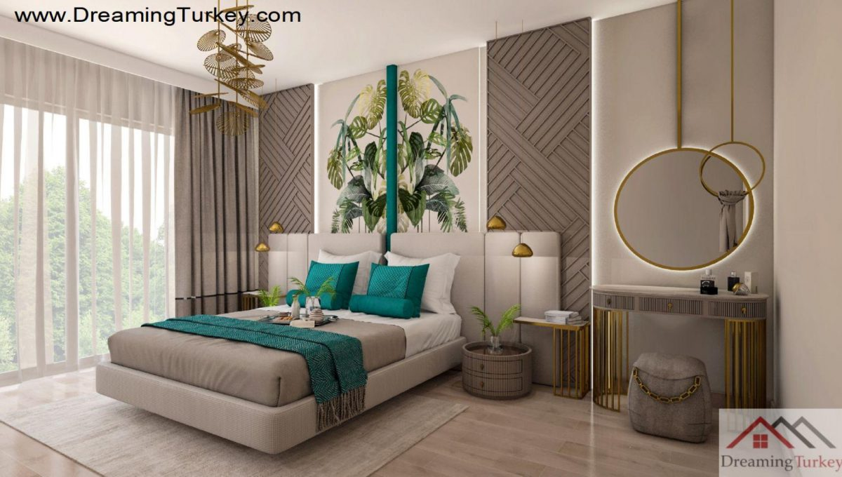 Apartment with a Sea View in Istanbul Master Bedroom