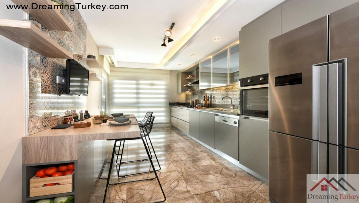 Apartment with a Sea View in Istanbul Kitchen 2