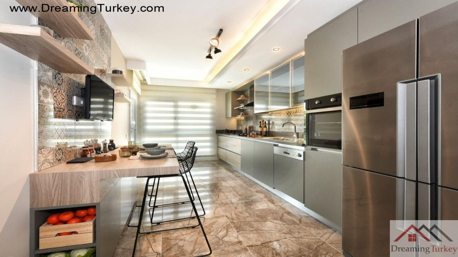 3-Bedroom Apartment with a Sea View in Istanbul