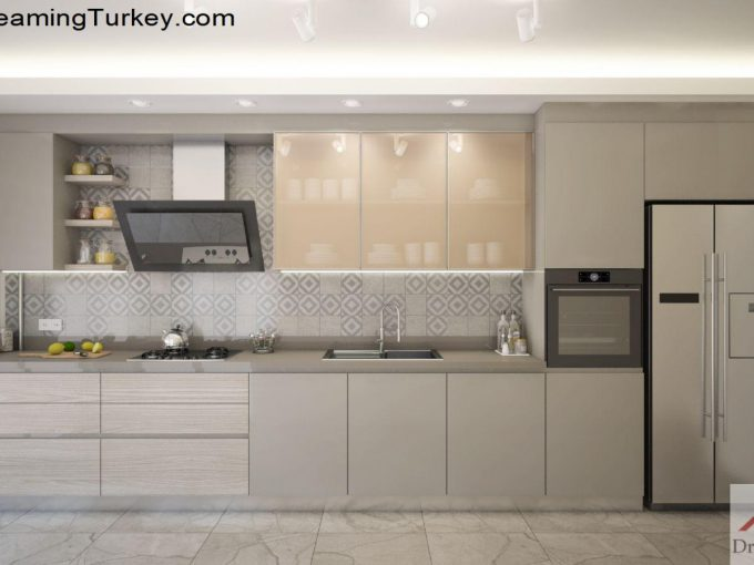 Apartment with a Sea View in Istanbul Kitchen