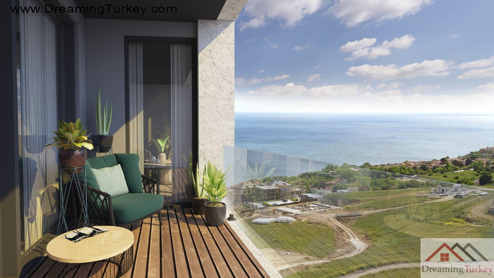 5-Bedroom Duplex with 2 Living Rooms with a Sea View in Istanbul
