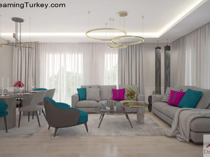 Apartment with a Sea View in Istanbul Dining Room