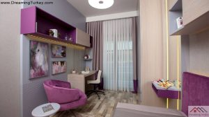 Apartment Next to the Metrobus in Istanbul Girl's Room