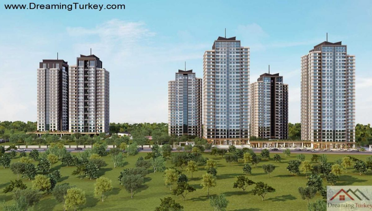 Landscape of a Modern Complex Close to Highway in Istanbul 2