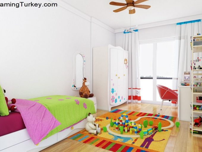 Child's Room Inside a Modern Complex Close to Highway in Istanbul 2+1