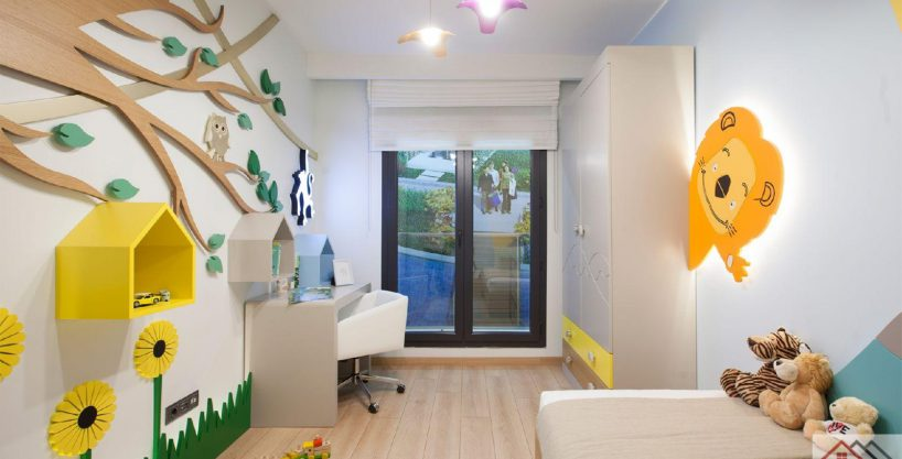 Apartment inside a Luxury Complex in Istanbul Child's Room