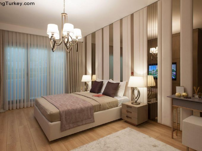 Apartment inside a Luxury Complex in Istanbul Bedroom