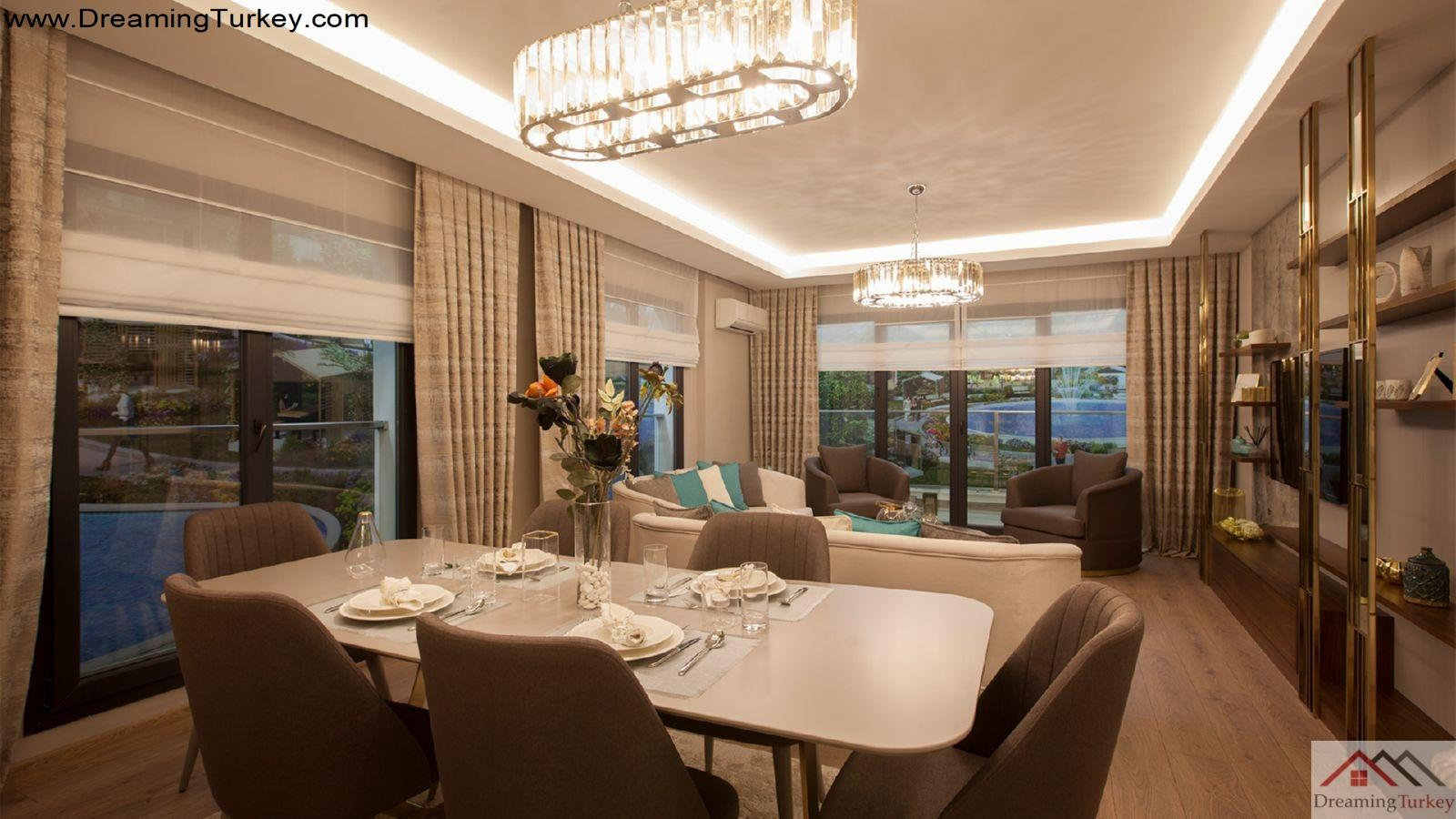 4-Bedroom Apartment inside a Luxury Complex in Istanbul