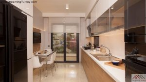 Apartment inside a Luxury Complex in Istanbul Kitchen