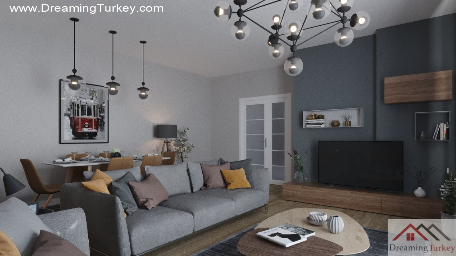 3.5-Bedroom Apartment Near the Lake in Istanbul