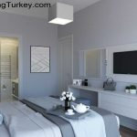 Bedroom in Triplex Villa with a Sea View in Istanbul