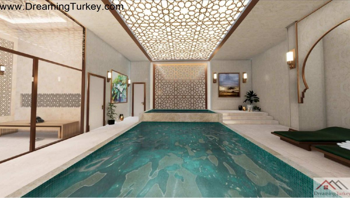 Swimming Pool in a Residence Near the Sea in the Center of Istanbul