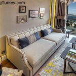 TV Room with a Sea View in a Modern Complex in Istanbul