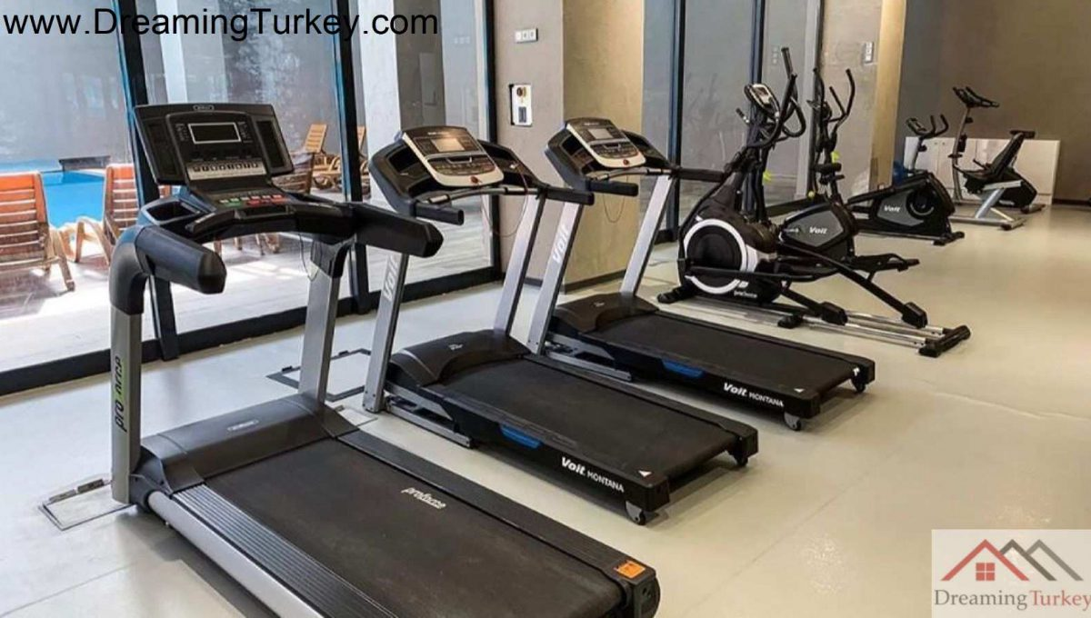 Fitness Gym with a Sea View in a Modern Complex in Istanbul