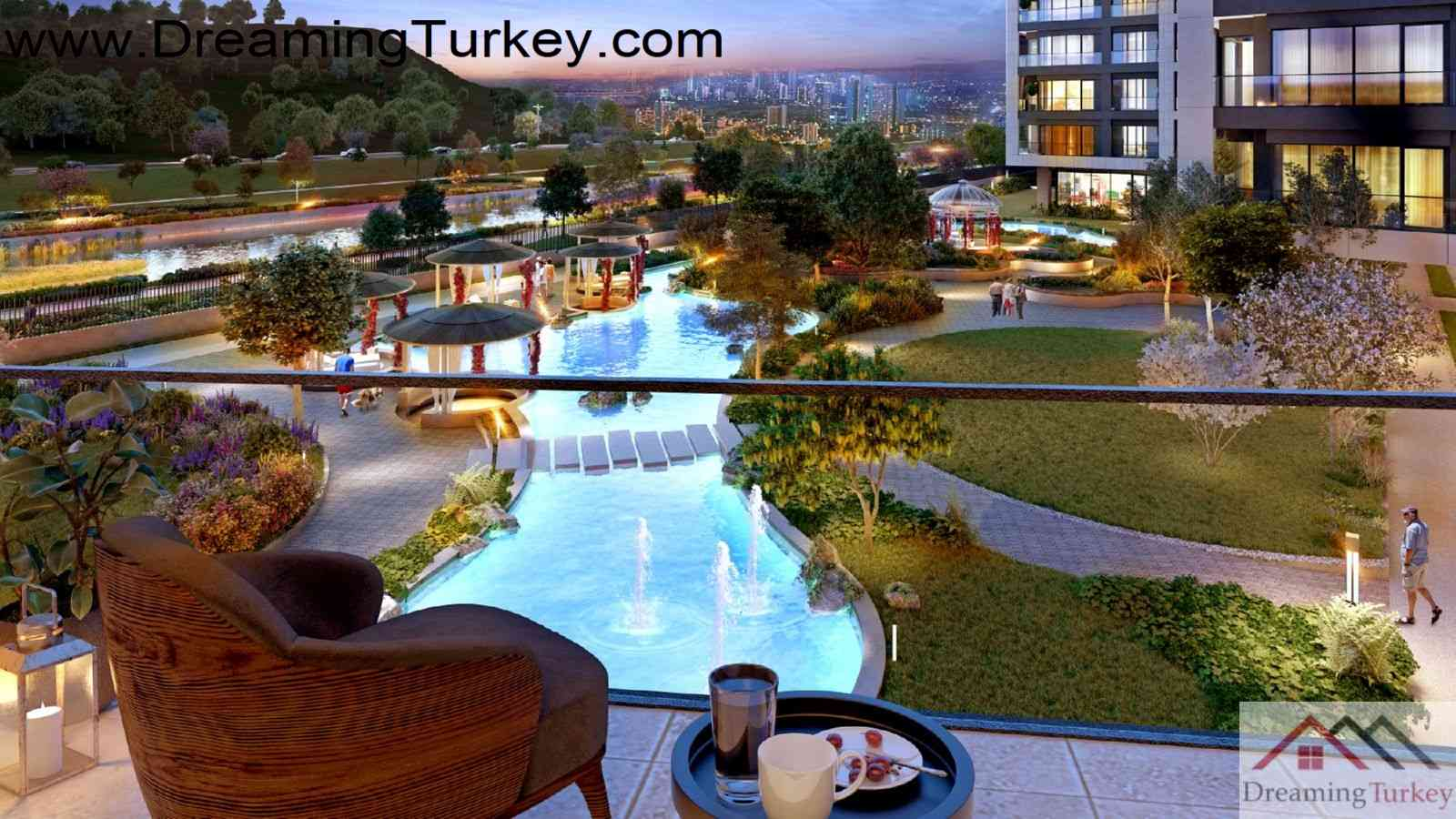 1-Bedroom Residence in a Luxury Complex with an Artificial Lake