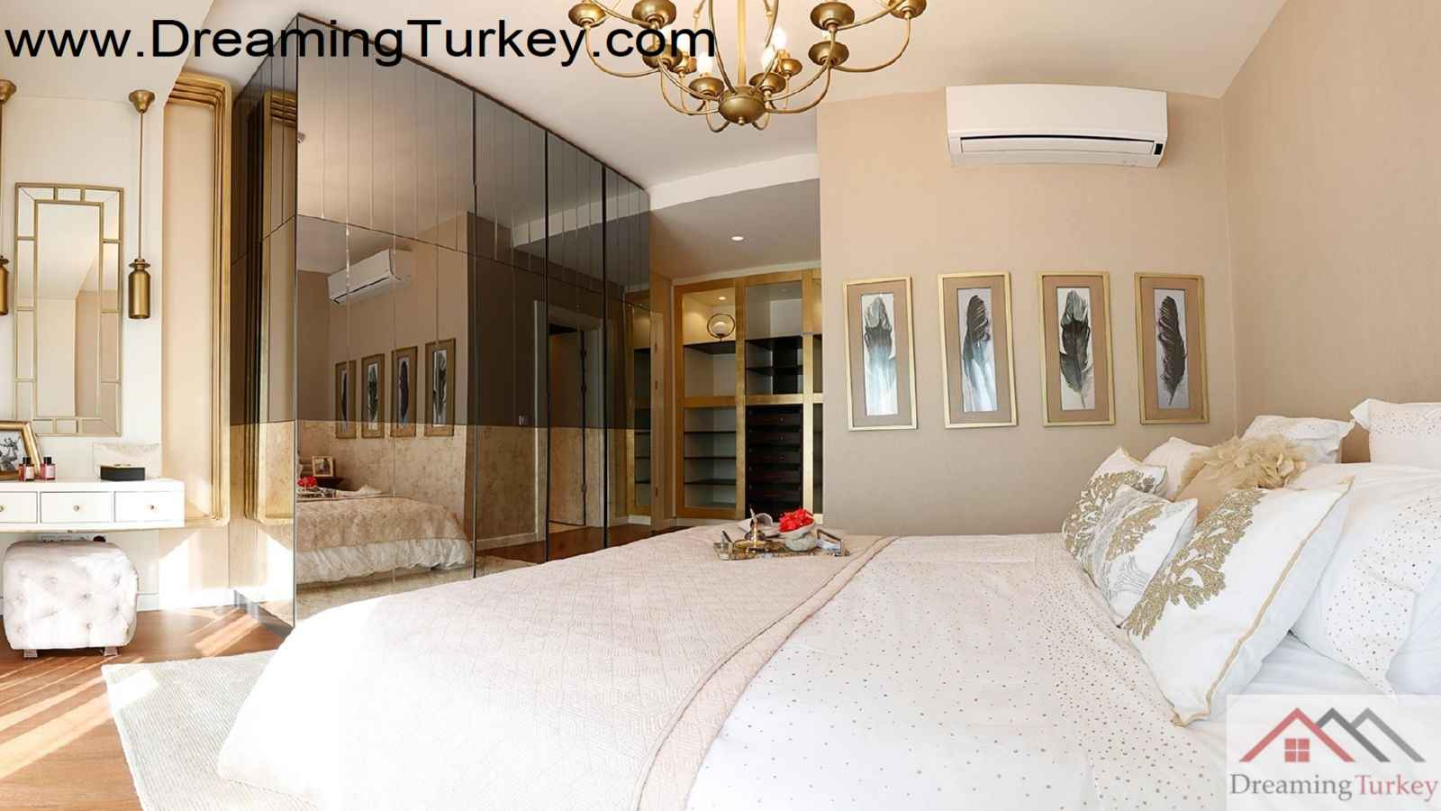 3-Bedroom Residence in a Luxury Complex with an Artificial Lake