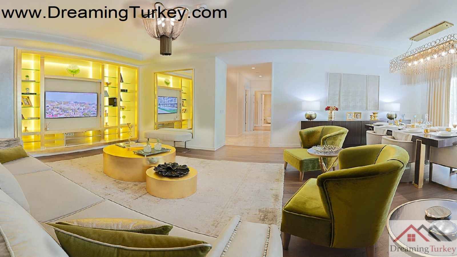 4-Bedroom Residence in a Luxury Complex with an Artificial Lake