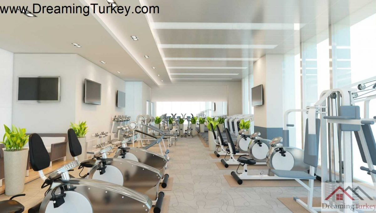 Fitness Gym in a Smart Complex Next to the Highway in Istanbul
