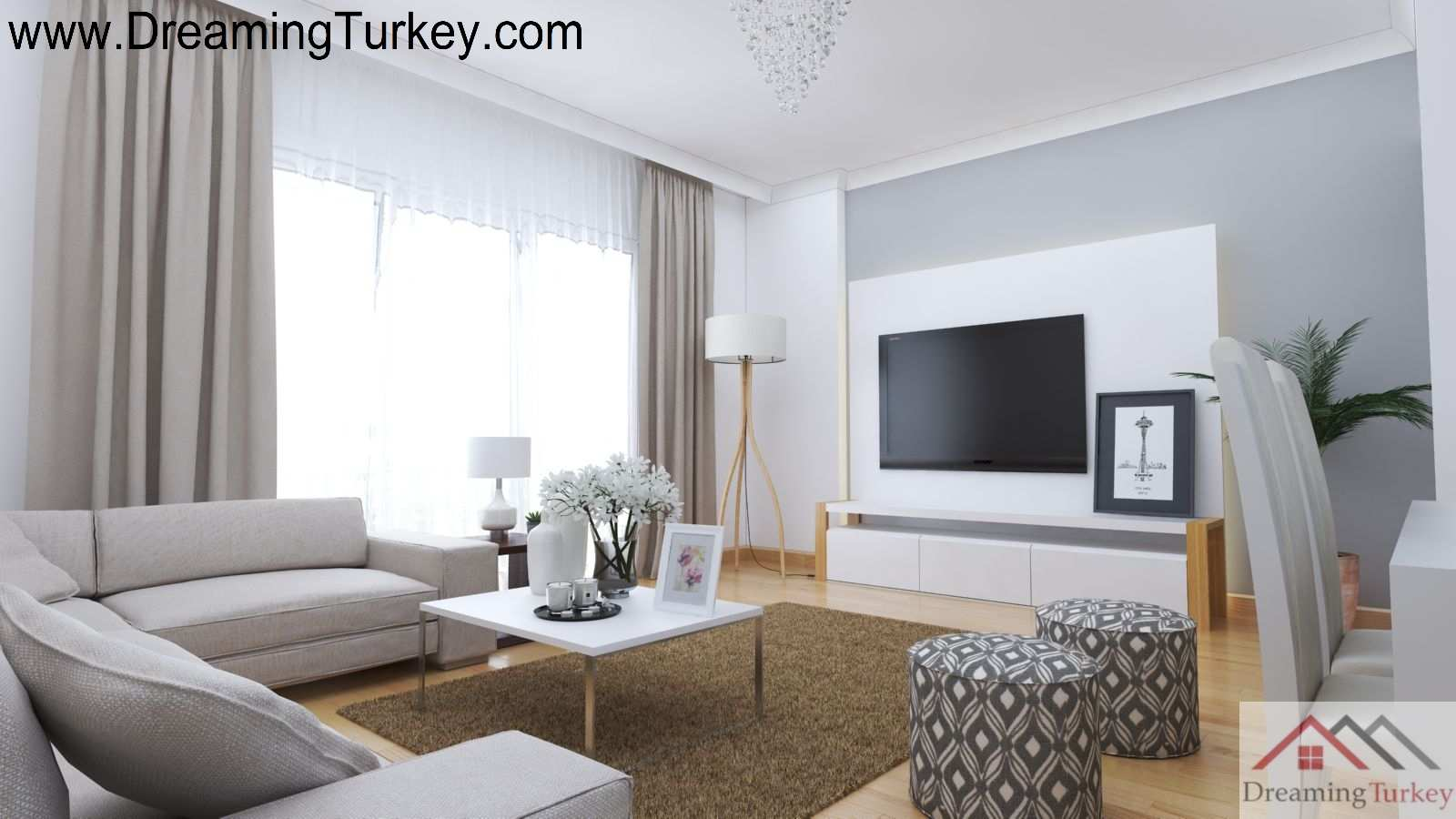 3-Bedroom Duplex Villa with a Sea View in Istanbul