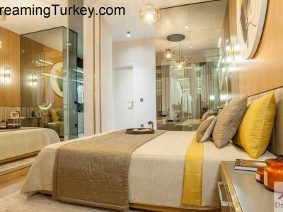 Apartment with a Lake View in a Modern Complex in Istanbul 1+0