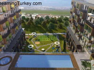 Apartment with a Lake View in a Modern Complex in Istanbul 1