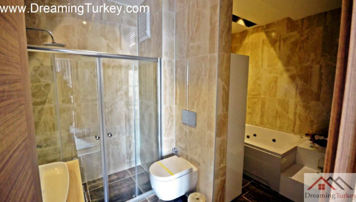 Bathroom in a Dressing Room in a Residence Inside a Modern Skyscraper in Istanbul