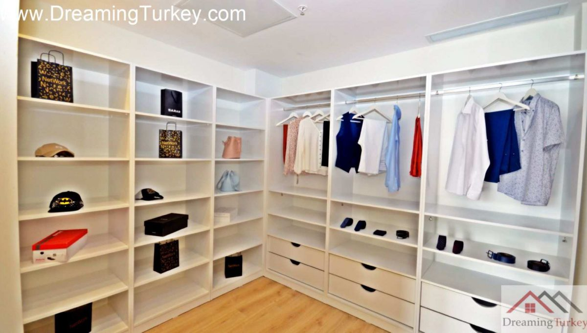 Dressing Room in a Residence Inside a Modern Skyscraper in Istanbul