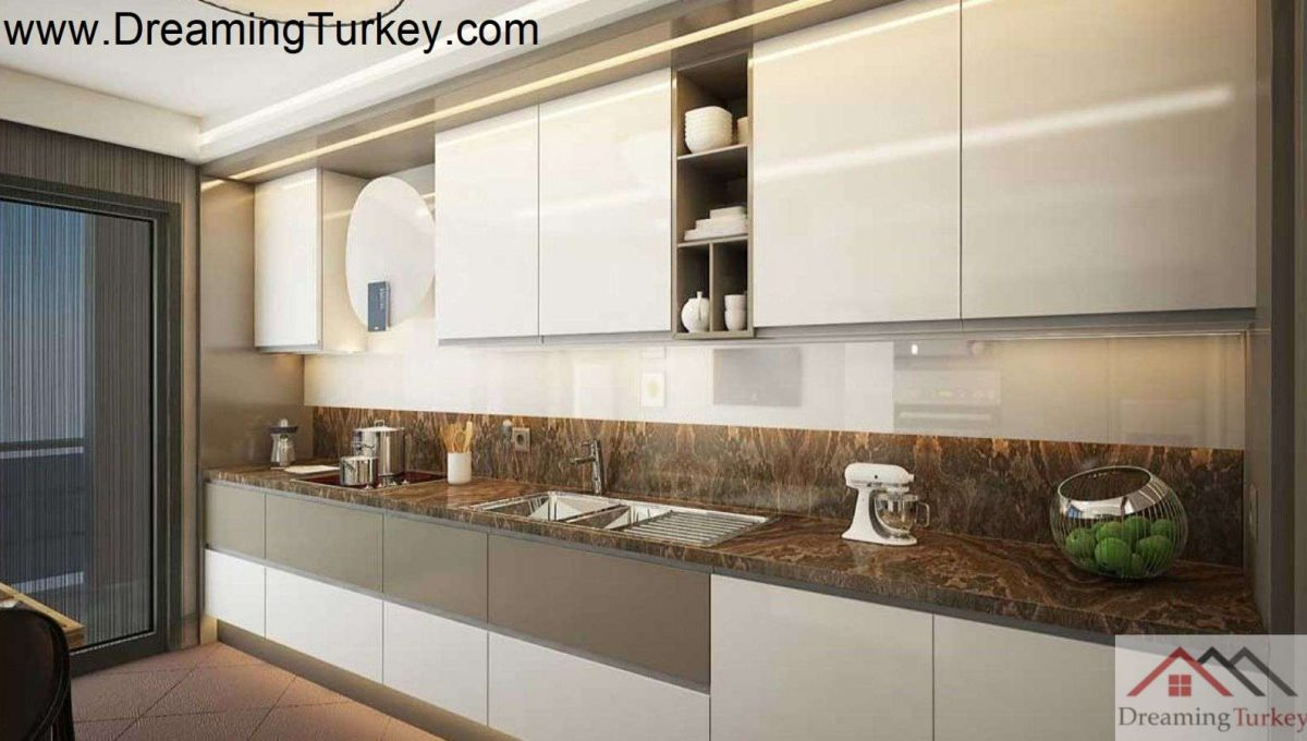 Apartment Inside a Complex with Nature Views in Istanbul 1+1