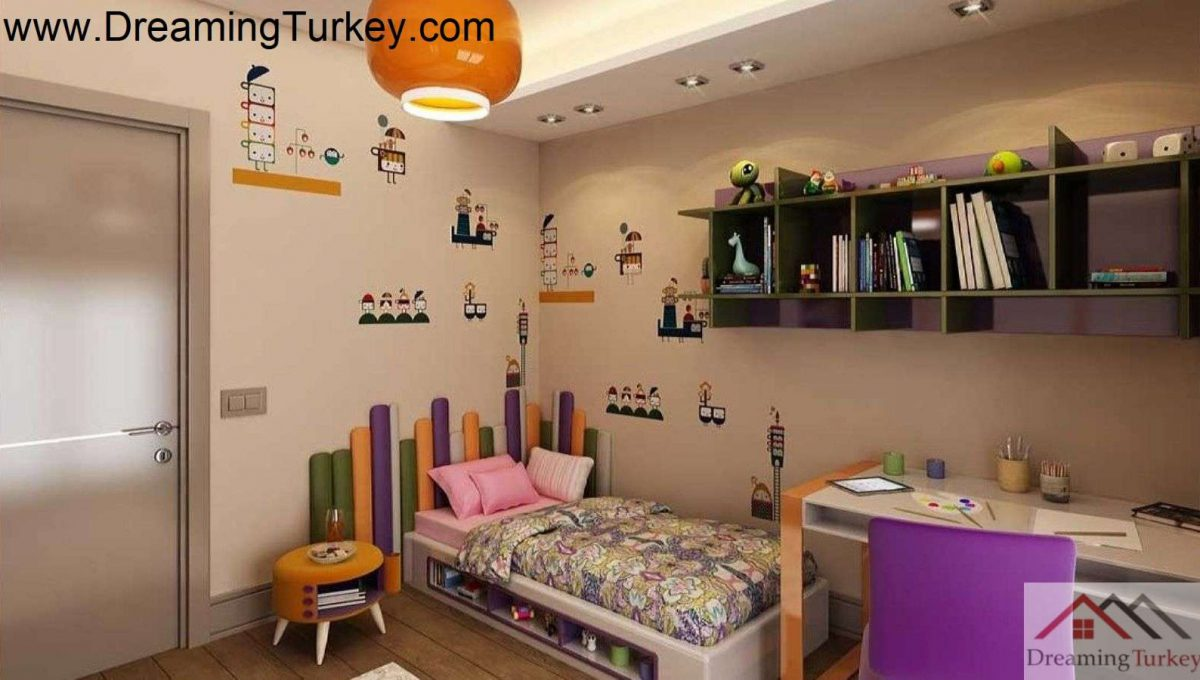 Apartment Inside a Complex with Nature Views in Istanbul 3+1