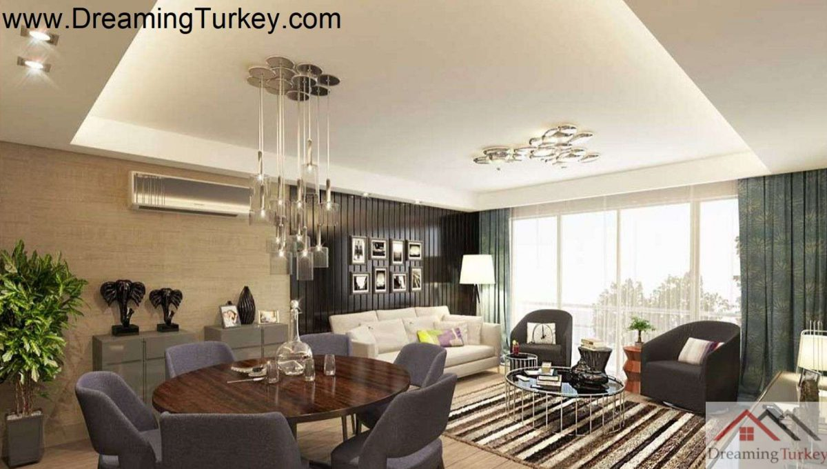 Apartment Inside a Complex with Nature Views in Istanbul 4+1
