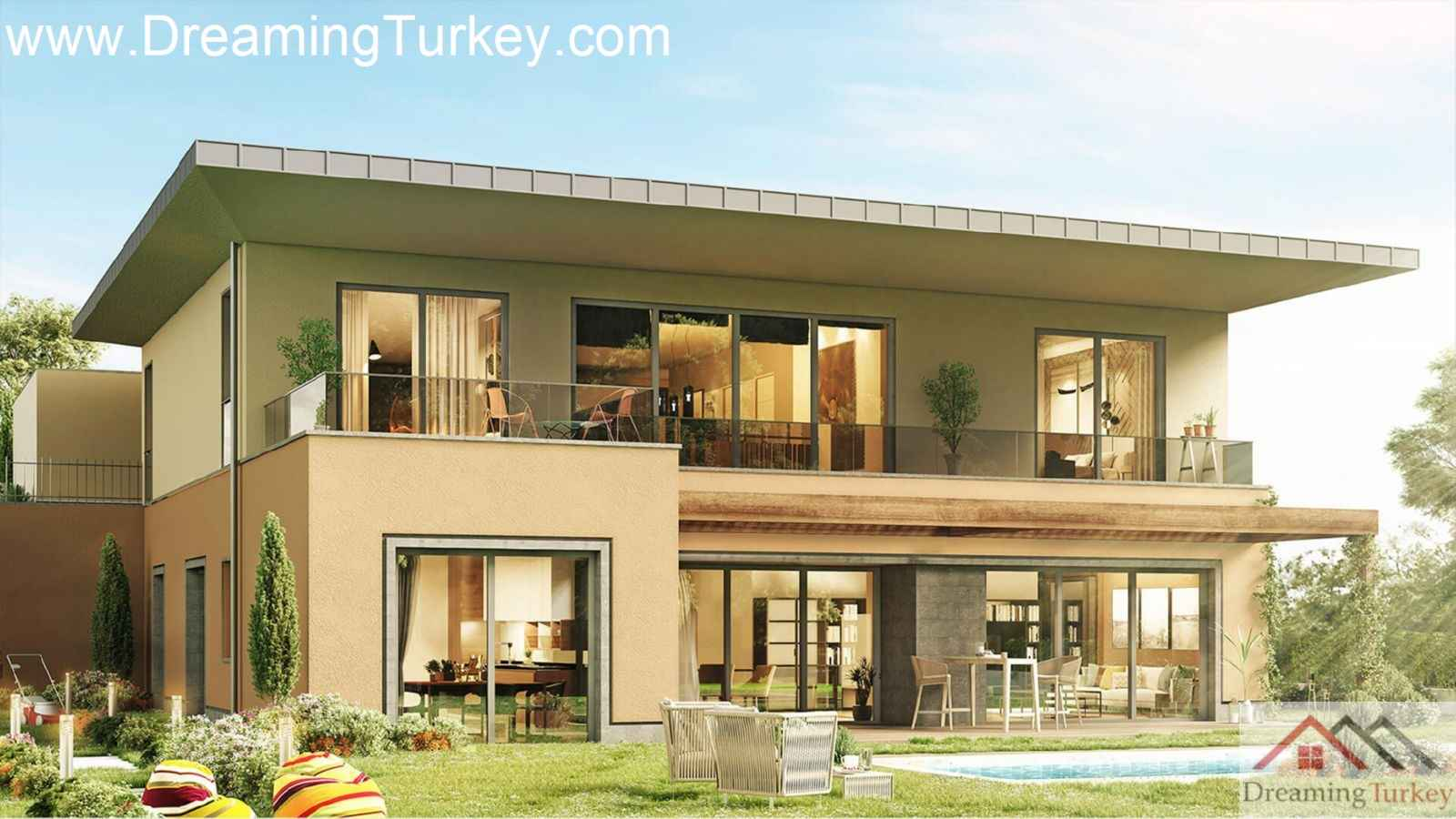 5-Bedroom Detached Duplex Villa with a Lake View in a Complex